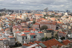 Cityscape of Lisbon, Portugal buildings Stock Photos