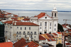 Cityscape of Lisbon, Portugal buildings Royalty Free Stock Photos