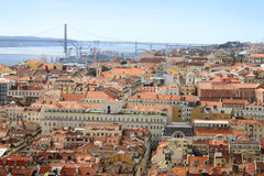 Cityscape of Lisbon, Portugal buildings Stock Images