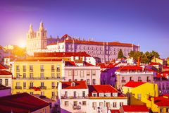 Cityscape of Lisbon, Portugal Royalty Free Stock Photography