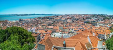 Cityscape in Lisbon, Portugal Stock Photo