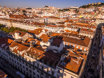 Cityscape of Lisbon, Portugal, seen from Portas do Sol, Royalty Free Stock Image