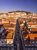 Cityscape of Lisbon, Portugal, seen from Portas do Sol, Stock Images
