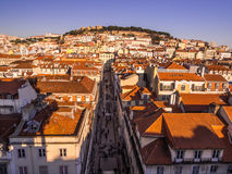 Cityscape of Lisbon, Portugal, seen from Portas do Sol, Royalty Free Stock Photography