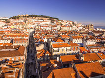 Cityscape of Lisbon, Portugal, seen from Portas do Sol, Royalty Free Stock Photo
