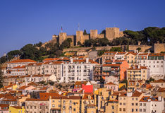 Cityscape of Lisbon, Portugal, seen from Portas do Sol, Royalty Free Stock Images