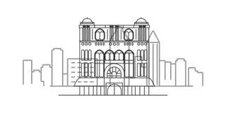 cityscape of Liverpool outline illustration vector illustration