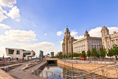 Cityscape of Liverpool, UK. Stock Photo