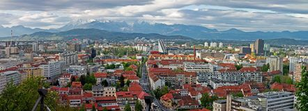 Cityscape of Ljubljana Royalty Free Stock Images