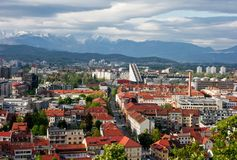 Cityscape of Ljubljana Royalty Free Stock Photos