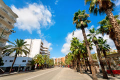 Cityscape of Lloret de Mar, Costa Brava,Spain Stock Photos