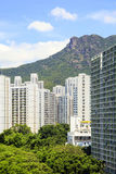 The cityscape of Lok Fu in Hong Kong Royalty Free Stock Photo
