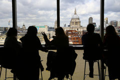 Cityscape of London beyond the glass Royalty Free Stock Images