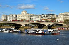 Cityscape of London with Thames river royalty free stock photography
