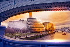 Cityscape of London with city hall Stock Photo