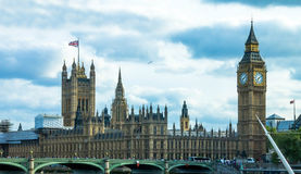 Cityscape from London Eye. England Royalty Free Stock Photo