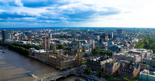 Cityscape of  London  with houses of Parliament , Big Ben and  Westminster Abbey . England Royalty Free Stock Photo