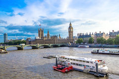 Cityscape of London  with houses of Parliament , Big Ben and  Westminster Abbey . England Stock Photos