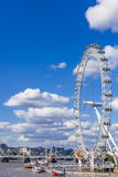 Cityscape of London including the London Eye on a sunny summer d Royalty Free Stock Photos