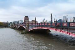 Cityscape of London, Lambeth Bridge. And modern buildings Stock Image