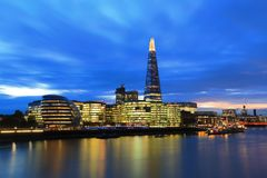 Cityscape of London night. Beauty Cityscape of London at the night Royalty Free Stock Images