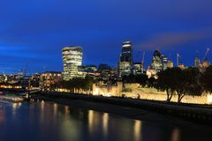 Cityscape of London at night Royalty Free Stock Photography