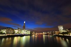 Cityscape of London at night Royalty Free Stock Images