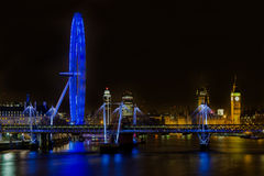 Cityscape of London at night Stock Photo