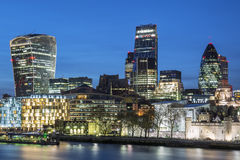 Cityscape of London at night Royalty Free Stock Photo