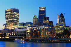 Cityscape of London at night Stock Photography