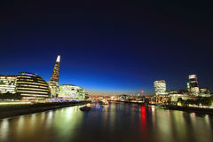 Cityscape of London at night Stock Photos