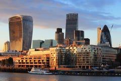Cityscape of London at night Royalty Free Stock Photo