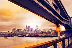 Cityscape of London with skyscrapers Royalty Free Stock Photography