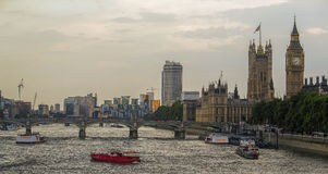 Cityscape of London. And the view of the river Thames Royalty Free Stock Photo