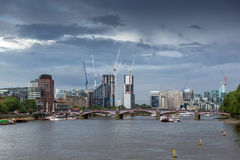 Cityscape of London from Westminster Bridge, England Stock Image
