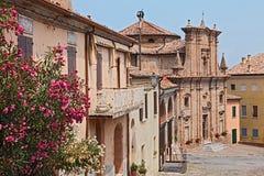 Cityscape of Longiano, Emilia romagna, Italy Royalty Free Stock Images