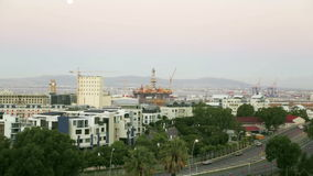 Cityscape look at Cape Town stock footage