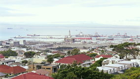 Cityscape look at Cape Town stock video footage