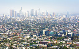 Cityscape of Los Angeles architecture at sunset Stock Photography