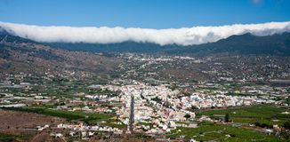 Cityscape of Los LLanos at La Palma Royalty Free Stock Photography
