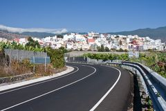 Cityscape of Los LLanos, La Palma, Canary Islands Royalty Free Stock Photos