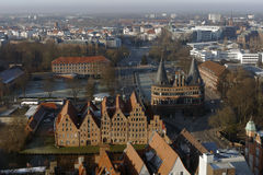 Cityscape of Lubeck, Germany Royalty Free Stock Photo