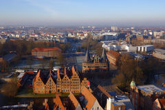 Cityscape of Lubeck, Germany Royalty Free Stock Photos