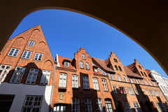 Cityscape of Lubeck old city, Germany Stock Images