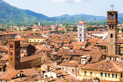 Cityscape of Lucca Royalty Free Stock Photography