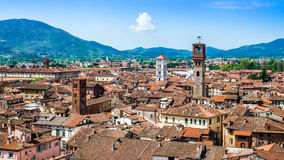 Cityscape of Lucca, in Tuscany, Italy Stock Photos