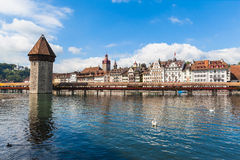 Cityscape of Lucerne old town Stock Images