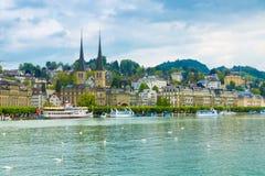Cityscape of Lucerne, Switzerland Stock Image
