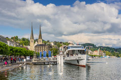 Cityscape of Lucerne, Switzerland Royalty Free Stock Photos