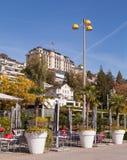 Lucerne, Nationalquai. Lucerne, Switzerland. View from the Nationalquai of the Lake Lucerne Royalty Free Stock Photo